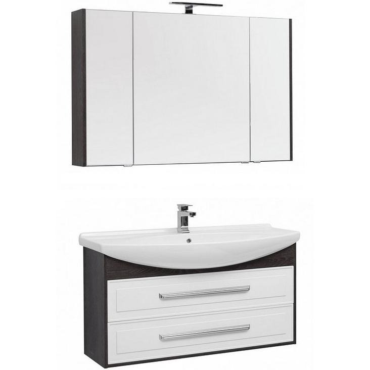 Комплект мебели для ванной Aquanet Остин 120 213133 подвесной Белый глянец Дуб кантербери
