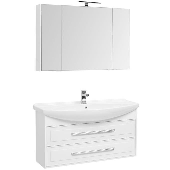 Фото - Комплект мебели для ванной Aquanet Остин 120 209994 подвесной Белый глянец комплект мебели для ванной aquanet йорк 60 203642 подвесной белый глянец