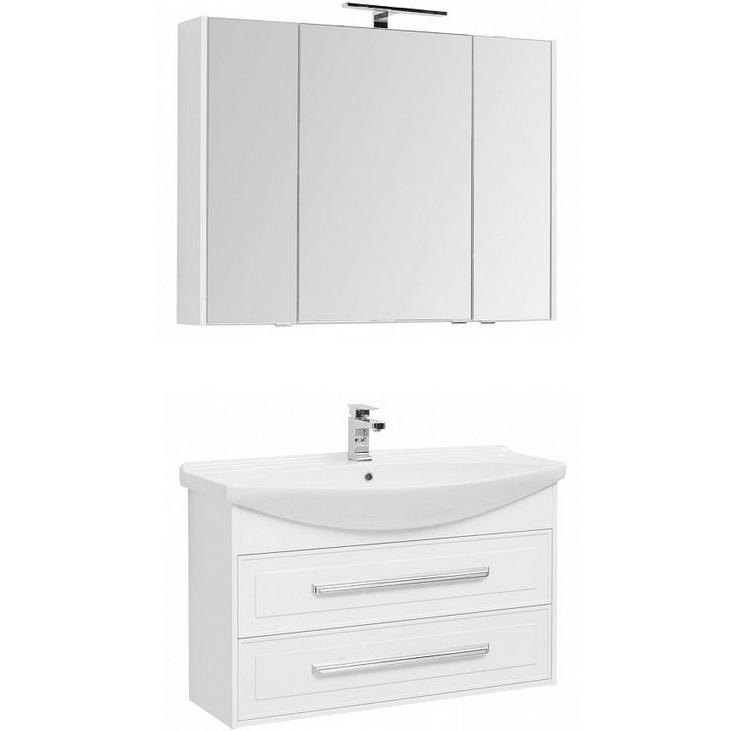 Фото - Комплект мебели для ванной Aquanet Остин 105 252222 подвесной Белый глянец комплект мебели для ванной aquanet йорк 60 203642 подвесной белый глянец