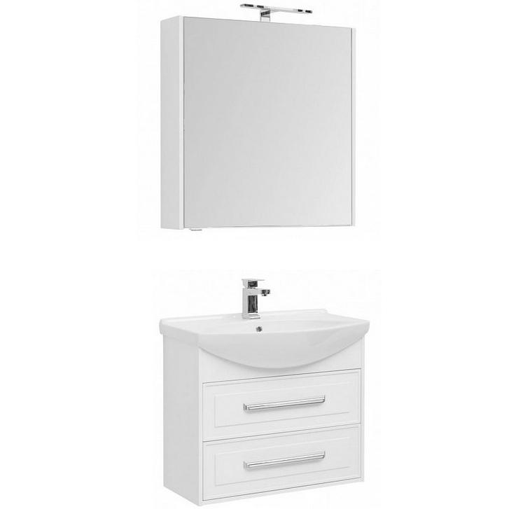 Фото - Комплект мебели для ванной Aquanet Остин 75 213134 подвесной Белый глянец комплект мебели для ванной aquanet йорк 60 203642 подвесной белый глянец