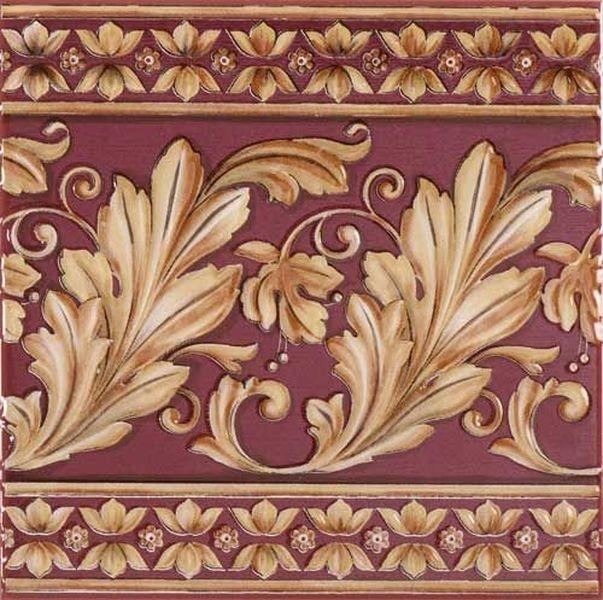 Керамический бордюр Ape Lord Magesty Burdeos 20х20 см панно ape ceramica lord wimbledon mix 20x20 см