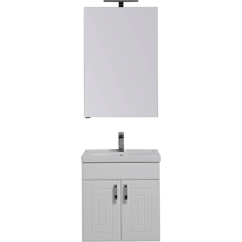 Комплект мебели для ванной Aquanet Рондо 60 195700 подвесной Белый шкаф зеркало aquanet рондо 60 белый 189164