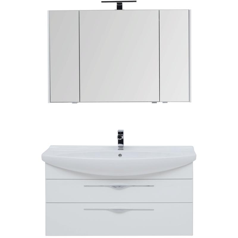 Фото - Комплект мебели для ванной Aquanet Ирвин 120 210256 подвесной Белый глянец комплект мебели для ванной aquanet йорк 60 203642 подвесной белый глянец