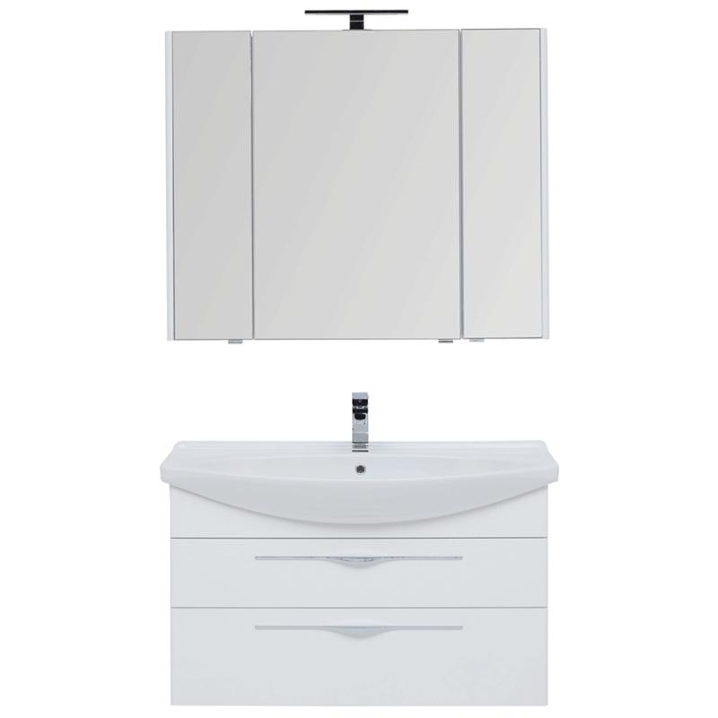 Фото - Комплект мебели для ванной Aquanet Ирвин 105 249626 подвесной Белый глянец комплект мебели для ванной aquanet йорк 60 203642 подвесной белый глянец