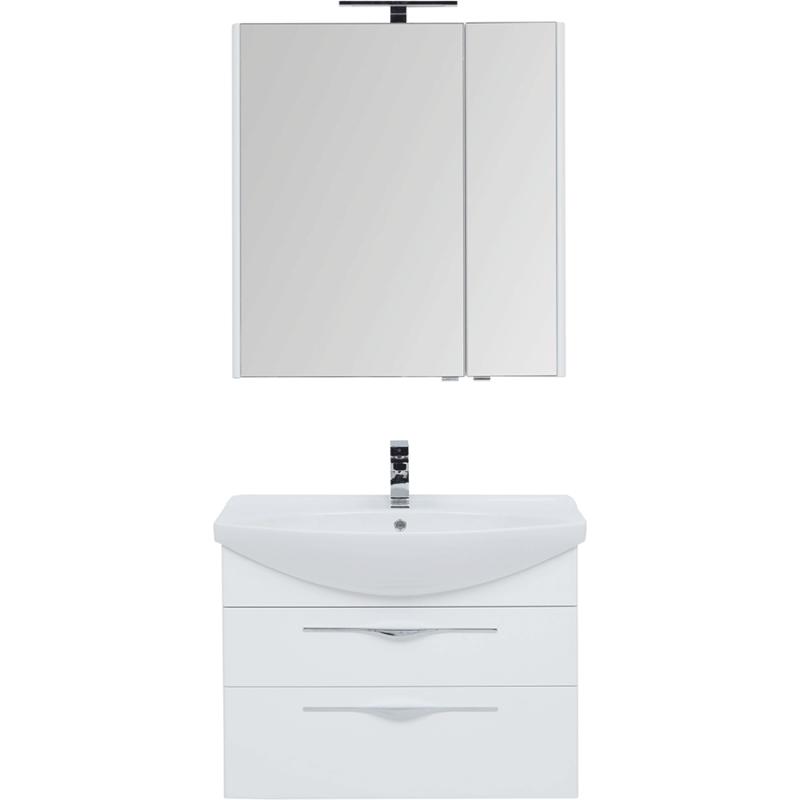 Фото - Комплект мебели для ванной Aquanet Ирвин 85 249622 подвесной Белый глянец комплект мебели для ванной aquanet йорк 60 203642 подвесной белый глянец