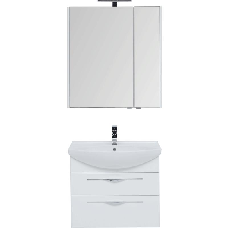 Фото - Комплект мебели для ванной Aquanet Ирвин 75 210253 подвесной Белый глянец комплект мебели для ванной aquanet йорк 60 203642 подвесной белый глянец