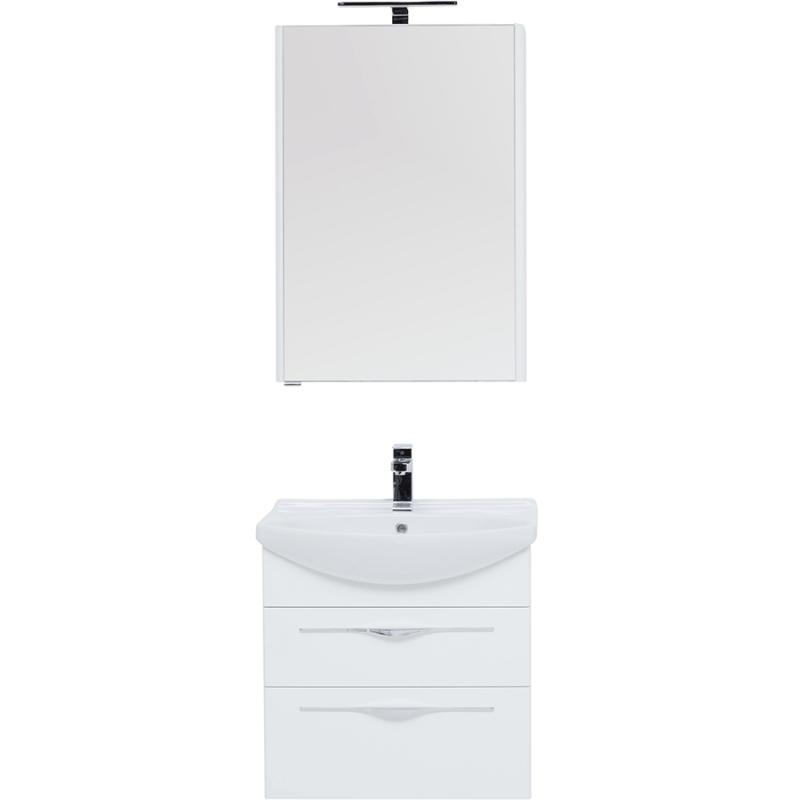 Фото - Комплект мебели для ванной Aquanet Ирвин 65 210252 подвесной Белый глянец комплект мебели для ванной aquanet йорк 60 203642 подвесной белый глянец