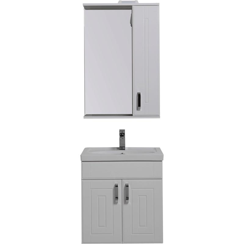 Комплект мебели для ванной Aquanet Рондо 60 195705 подвесной Белый шкаф зеркало aquanet рондо 60 белый 189164