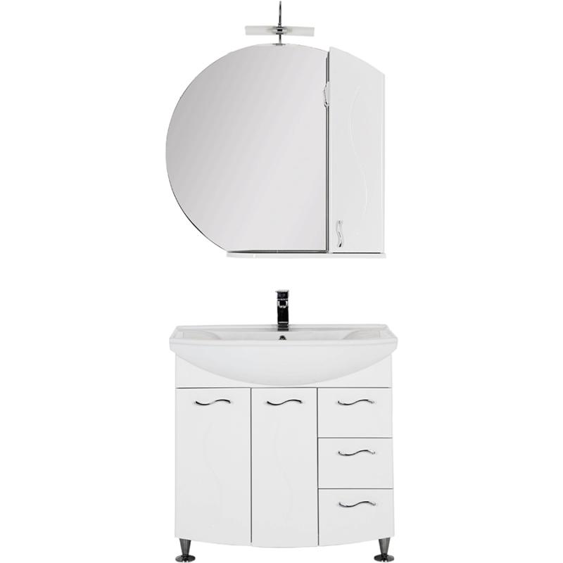 Комплект мебели для ванной Aquanet Моника 85 187567 Белый