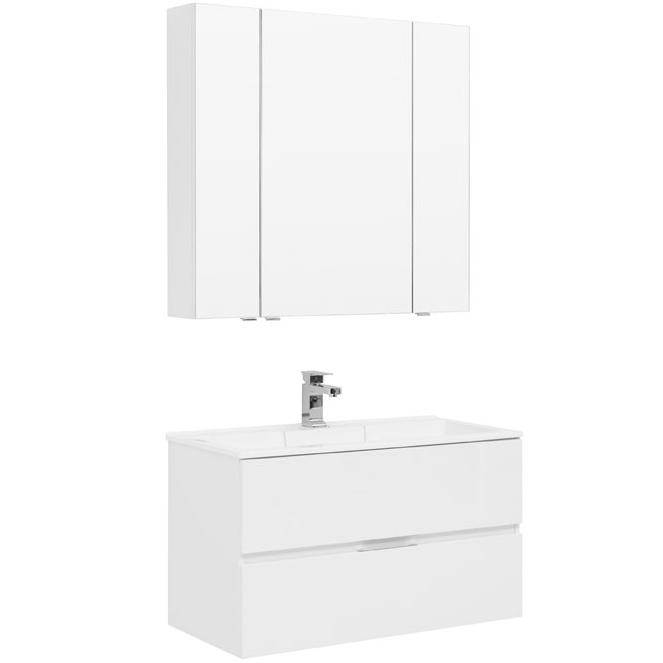 Комплект мебели для ванной Aquanet Алвита 90 237349 подвесной Белый