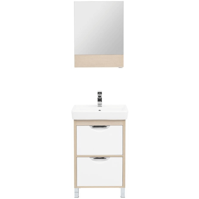 Комплект мебели для ванной Aquanet Гретта 55 239425 Светлый дуб комплект мебели для ванной aquanet гретта 75 209980 светлый дуб