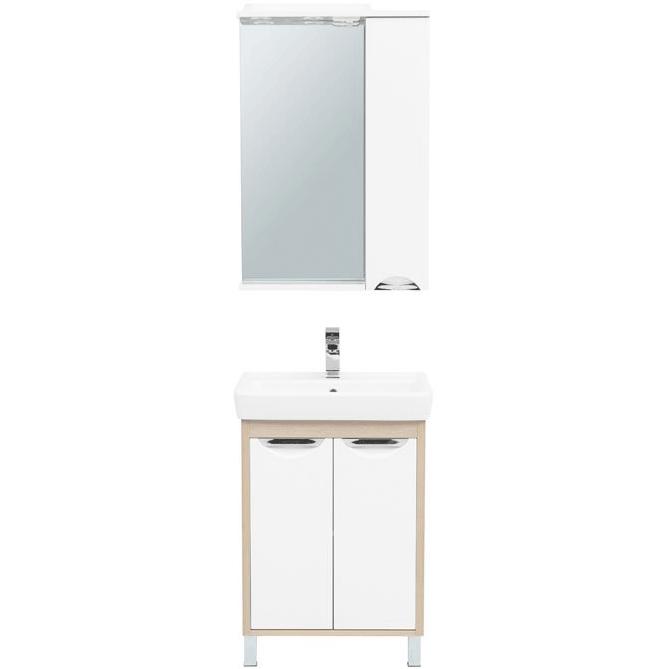 Комплект мебели для ванной Aquanet Гретта 60 239426 Светлый дуб комплект мебели для ванной aquanet гретта 75 209980 светлый дуб