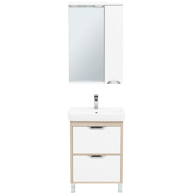 Комплект мебели для ванной Aquanet Гретта 60 239427 Светлый дуб комплект мебели для ванной aquanet гретта 75 209980 светлый дуб