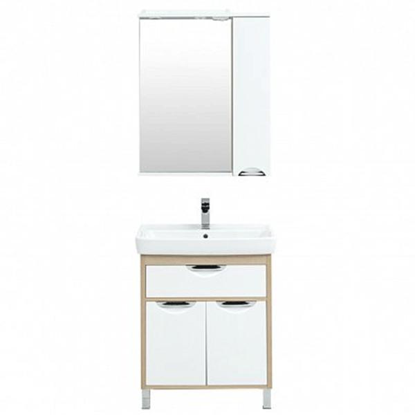Комплект мебели для ванной Aquanet Гретта 70 239430 Светлый дуб комплект мебели для ванной aquanet гретта 75 209980 светлый дуб