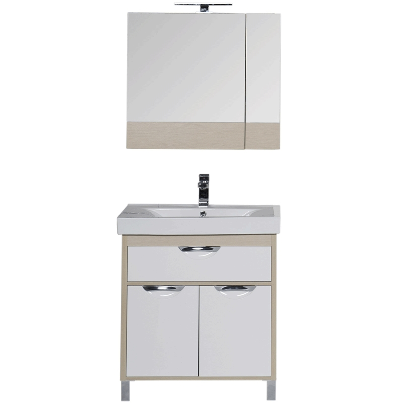 Комплект мебели для ванной Aquanet Гретта 75 209980 Светлый дуб