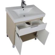 Комплект мебели для ванной Aquanet Гретта 75 209980 Светлый дуб-4
