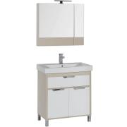 Комплект мебели для ванной Aquanet Гретта 75 209980 Светлый дуб-5