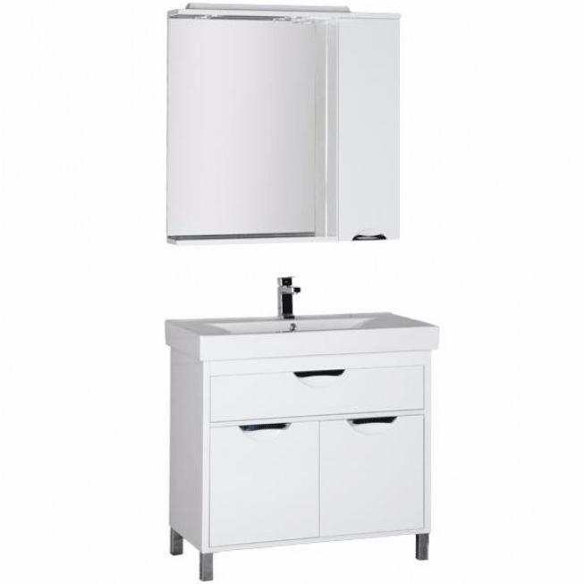 Комплект мебели для ванной Aquanet Гретта 75 209976 Белый комплект мебели для ванной aquanet гретта 75 209980 светлый дуб
