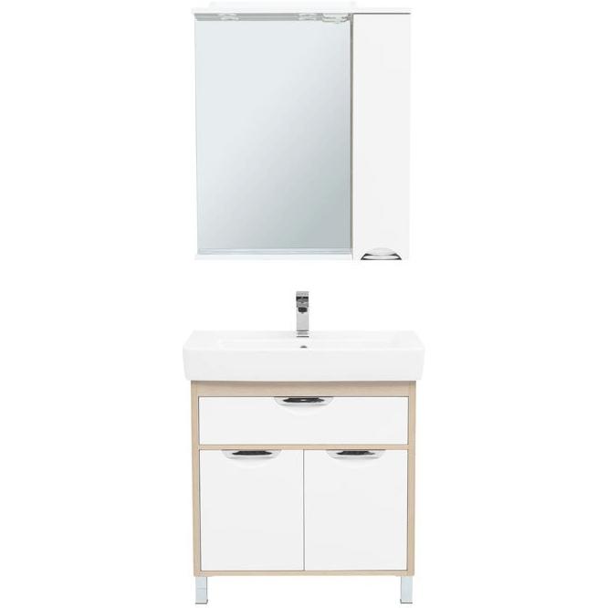 Комплект мебели для ванной Aquanet Гретта 80 239432 Светлый дуб комплект мебели для ванной aquanet гретта 75 209980 светлый дуб