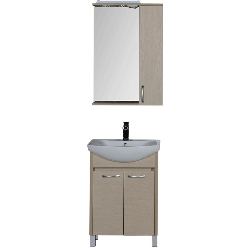 Комплект мебели для ванной Aquanet Донна 60 168932 Светлый дуб тумба с раковиной aquanet донна 80 светлый дуб 168931 1wh109653