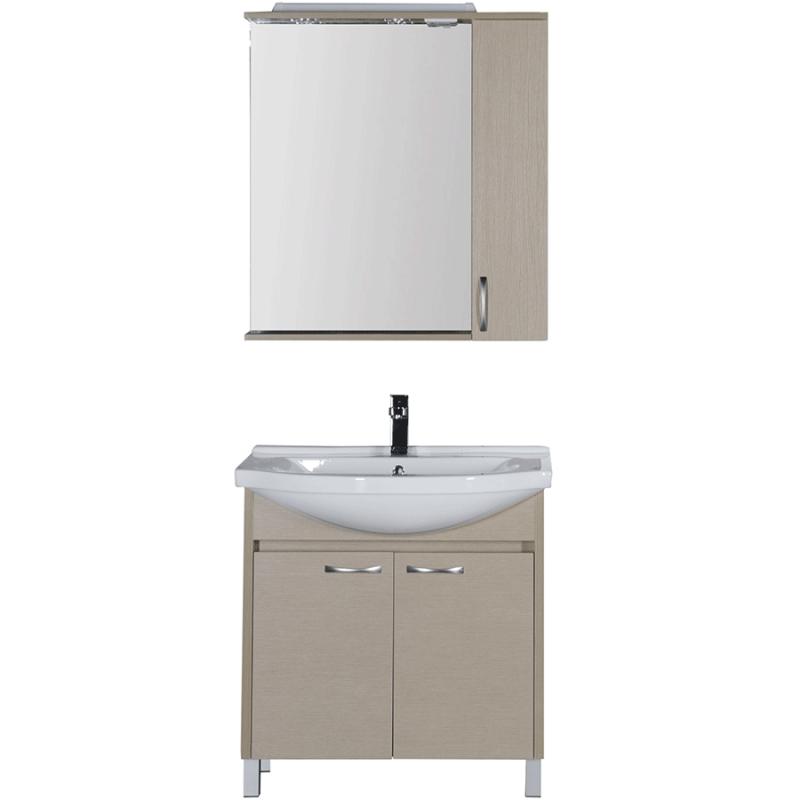 Комплект мебели для ванной Aquanet Донна 80 168933 Светлый дуб тумба с раковиной aquanet донна 80 светлый дуб 168931 1wh109653