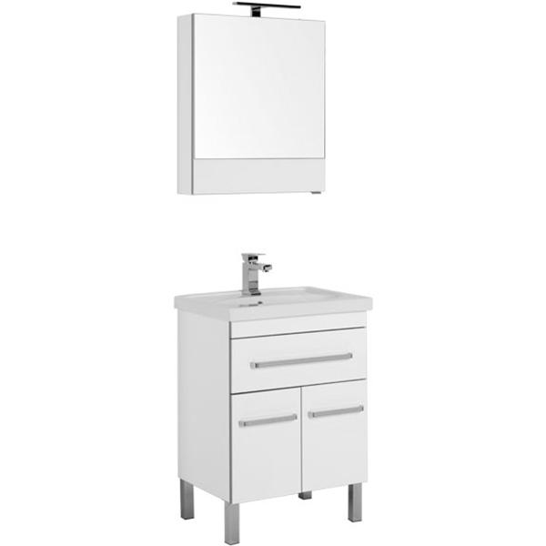 Комплект мебели для ванной Aquanet Сиена 60 196496 Белый фото