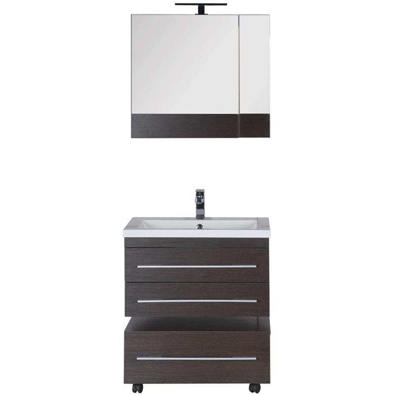 Комплект мебели для ванной Aquanet Нота 75 231061 подвесной Венге
