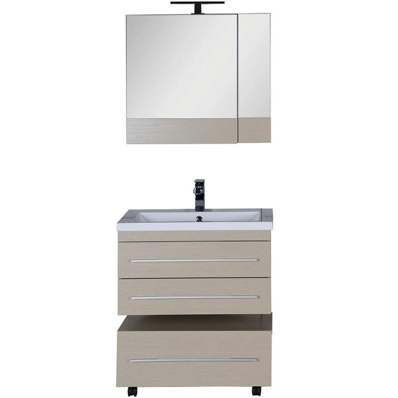 Комплект мебели для ванной Aquanet Нота 75 231062 подвесной Светлый дуб комплект мебели для ванной aquanet гретта 75 209980 светлый дуб