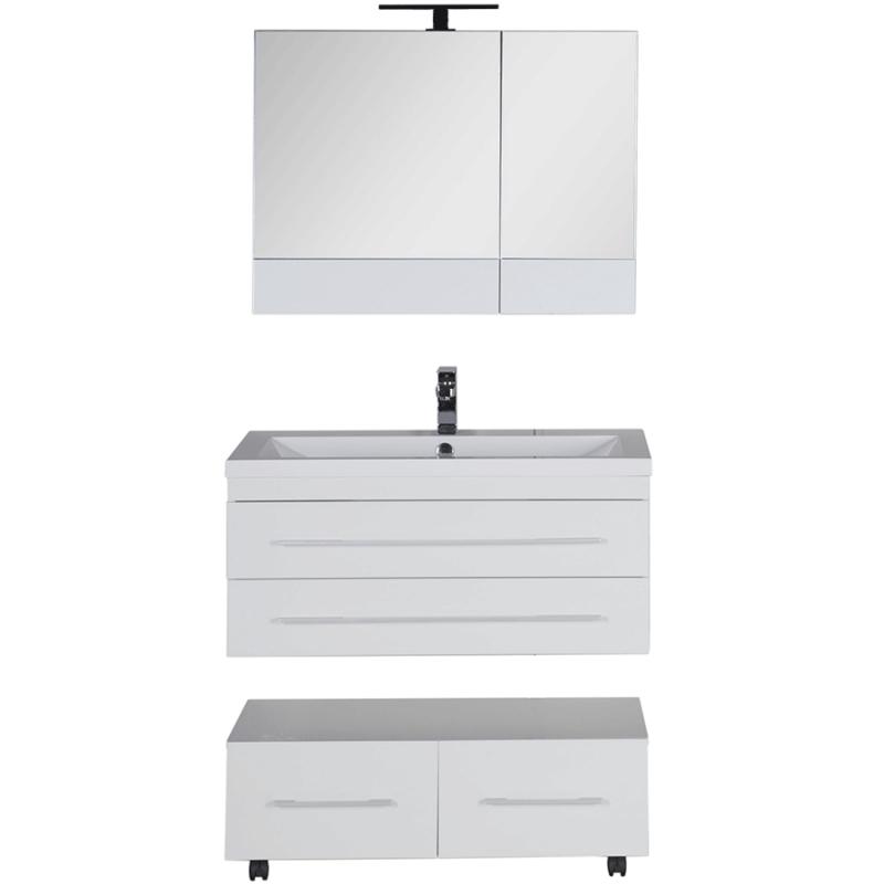 Комплект мебели для ванной Aquanet Нота 90 230297 подвесной Белый