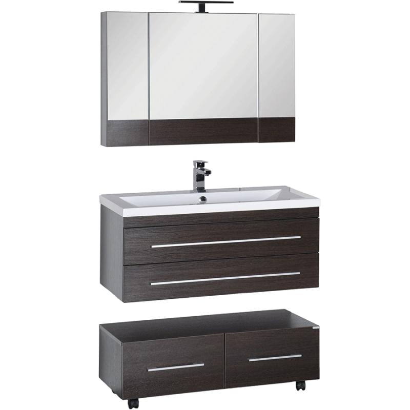 Комплект мебели для ванной Aquanet Нота 100 230301 Венге
