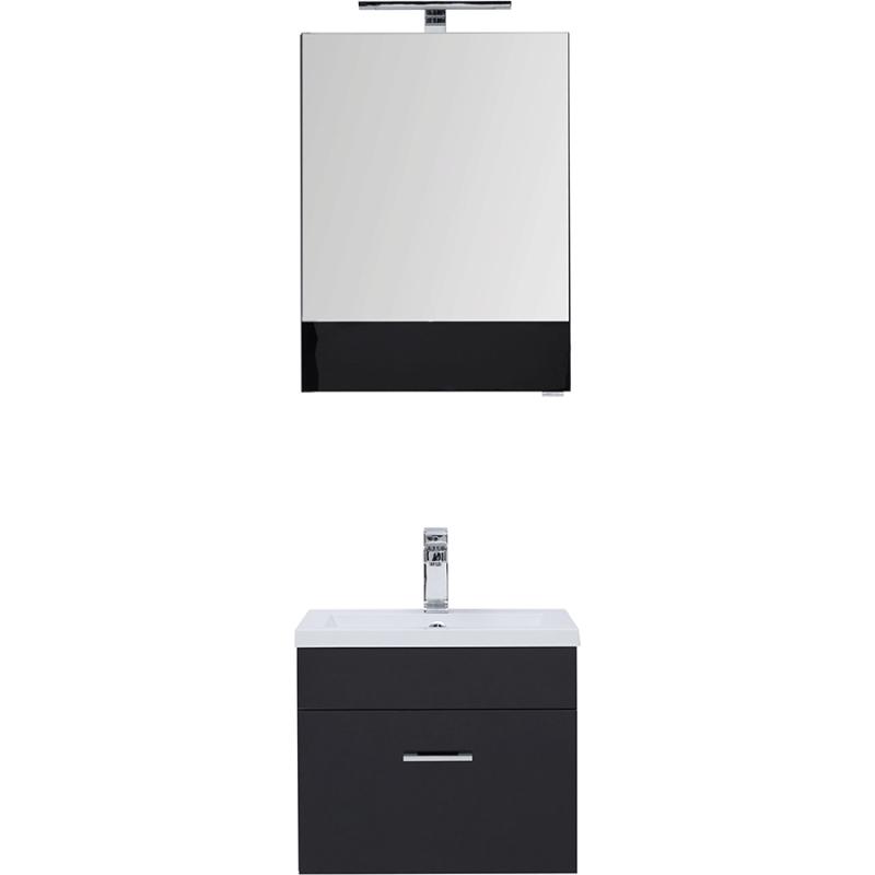 Комплект мебели для ванной Aquanet Верона 50 231054 Черный