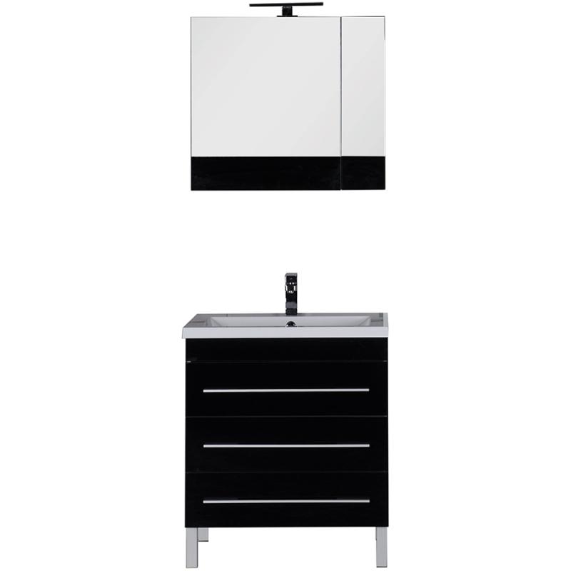 Комплект мебели для ванной Aquanet Верона 75 231041 Черный