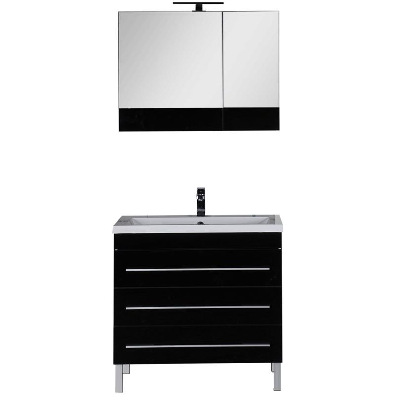 Комплект мебели для ванной Aquanet Верона 90 230317 Черный