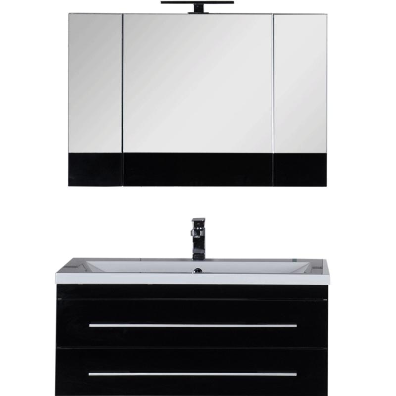 Комплект мебели для ванной Aquanet Верона 100 230319 Черный