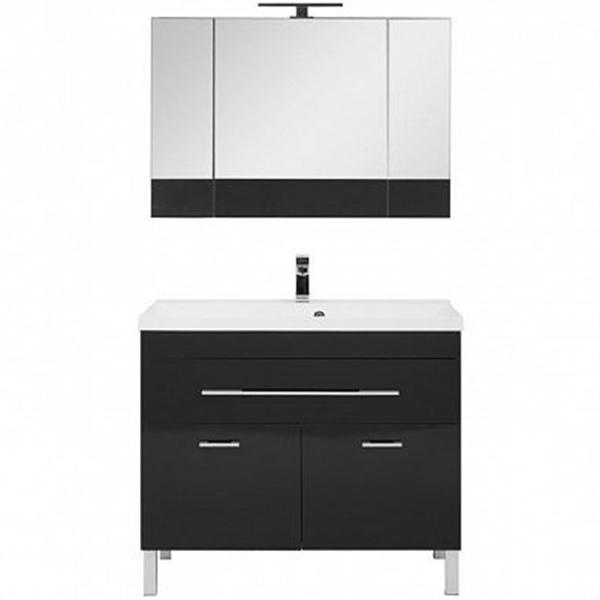 Комплект мебели для ванной Aquanet Верона 100 230321 Черный