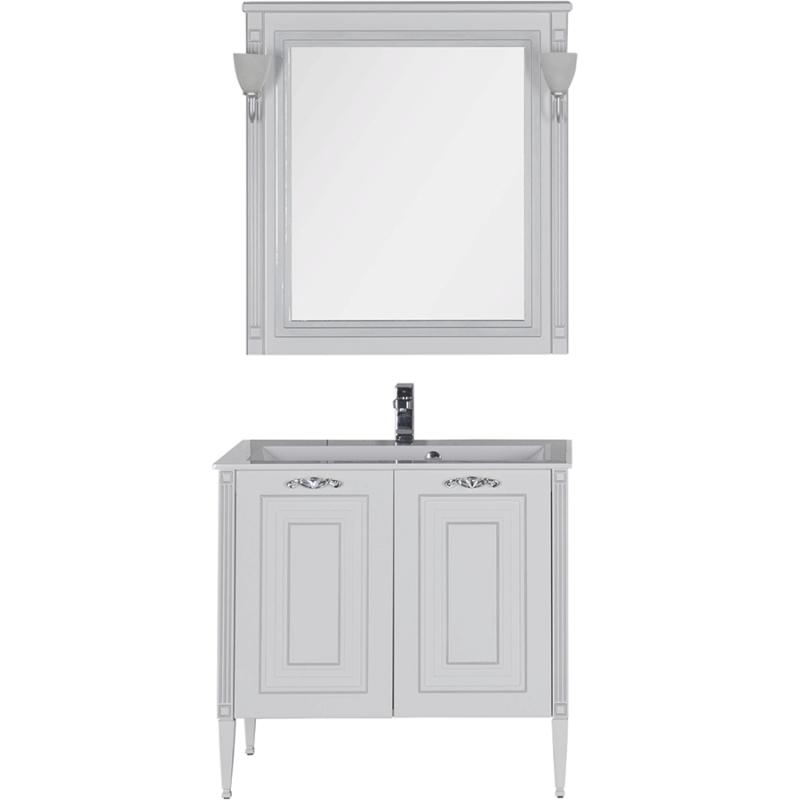 Комплект мебели для ванной Aquanet Паола 90 182133 Белый Серебро