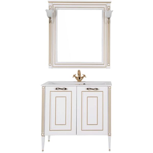 Комплект мебели для ванной Aquanet Паола 90 187844 Белый Золото