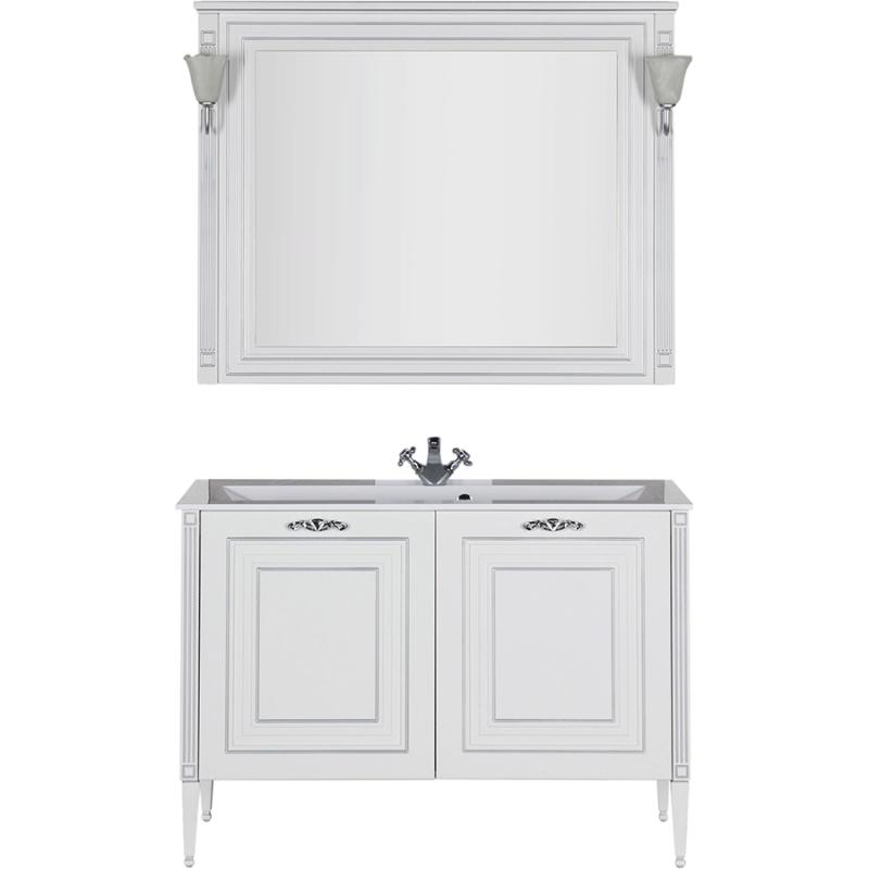Комплект мебели для ванной Aquanet Паола 120 182131 Белый Серебро