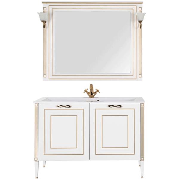 Комплект мебели для ванной Aquanet Паола 120 187865 Белый Золото