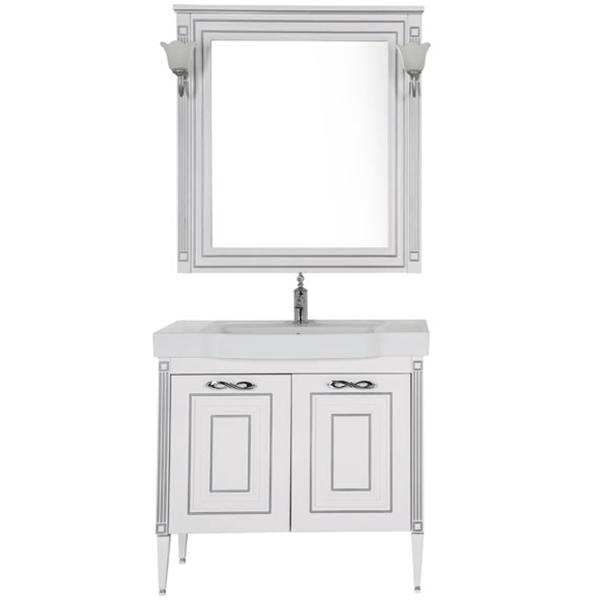 Комплект мебели для ванной Aquanet Паола 90 186391 Белый Серебро