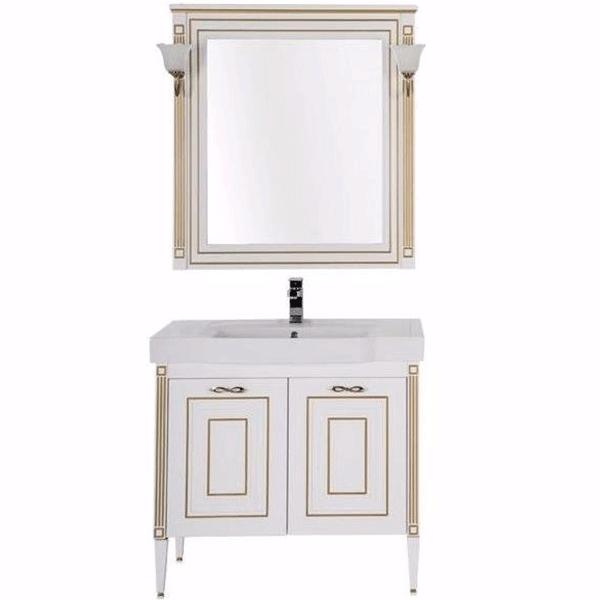 Комплект мебели для ванной Aquanet Паола 90 186382 Белый Золото