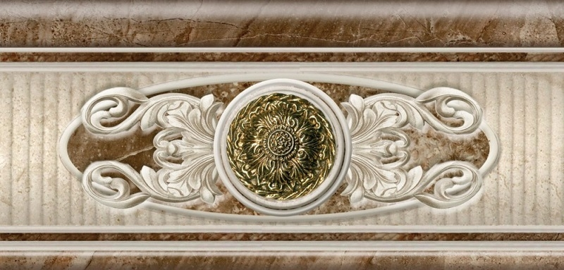 цена на Керамический бордюр Azulev Legend Listelo Decoro Crema 12х25см