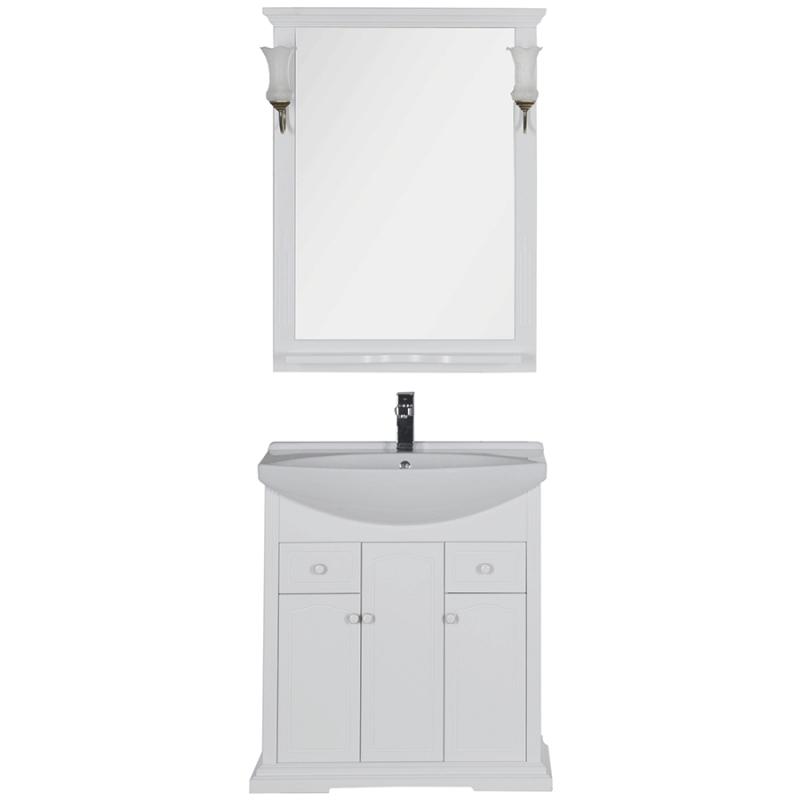 Комплект мебели для ванной Aquanet Лагуна 75 175444 Белый