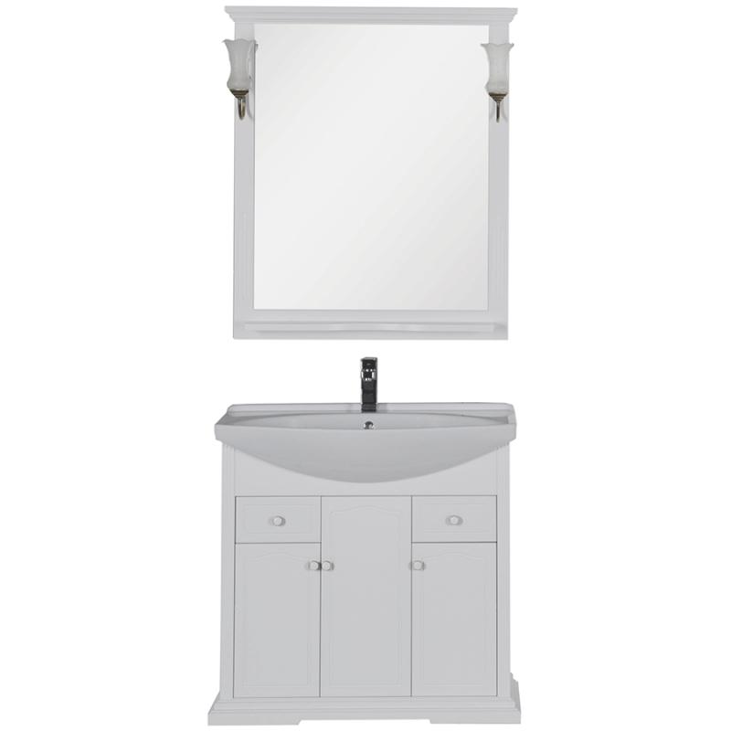 Комплект мебели для ванной Aquanet Лагуна 85 203779 Белый