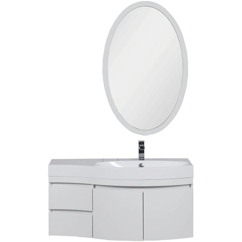 Комплект мебели для ванной Aquanet Опера 115 R 169418 Белый зеркало vezzolli алиана цвет белый 115 х 88 см