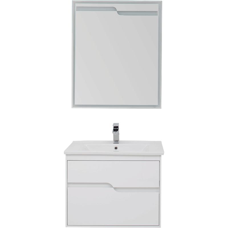 Комплект мебели для ванной Aquanet Модена 75 199306 Белый глянец