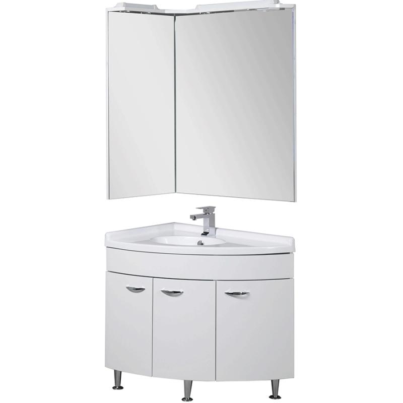 Комплект мебели для ванной Aquanet Корнер 55х80 L 161232 Белый