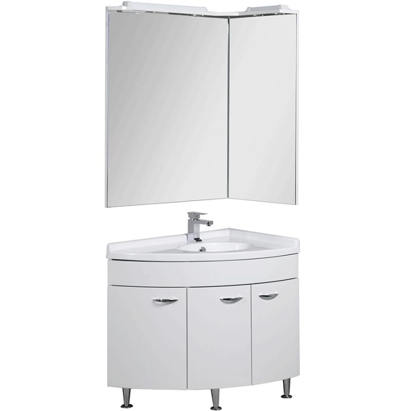 Комплект мебели для ванной Aquanet Корнер 55х80 R 161298 Белый