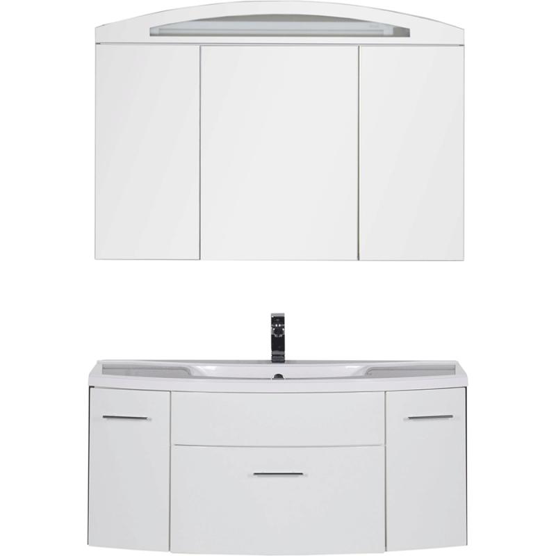 Комплект мебели для ванной Aquanet Тренто 120 161161 Белый раковина aquanet тренто 152905
