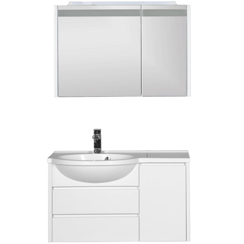 Комплект мебели для ванной Aquanet Лайн 90 L 167610 Белый aquanet лайн 90 r камерино со свет 164934